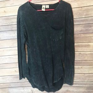 Anthropologie three feathers stone wash top